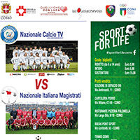 Nazionale Calcio Tv vs Nazionale italiana Magistrati