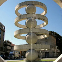 Illuminazione della Fontana di Camerlata