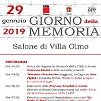 Commemorazione in occasione del Giorno della Memoria