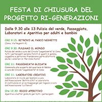 Festa di chiusura del progetto Ri-Generazioni