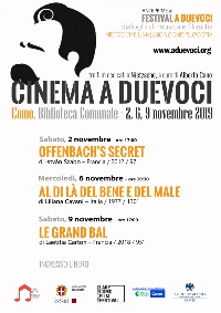 Cinema a due voci poster 2019 A4